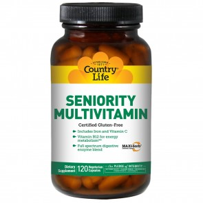 Country Life Seniority Multivitamin with Digestive Enzymes 120 Vegetarian Capsules