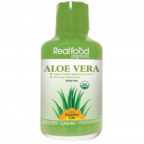 Country Life Real Food Organics Liquid Aloe Vera 100% Inner Fillet 32 oz