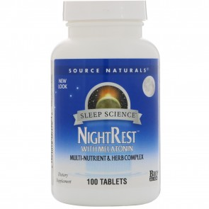 Source Naturals NightRest With Melatonin 100 Tablets