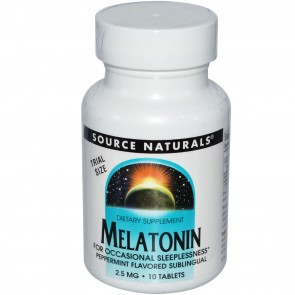 Source Naturals Melatonin Peppermint 2.5mg 10 Tablets