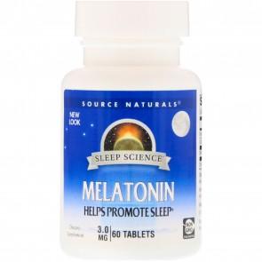 Source Naturals Melatonin 3 mg 60 Tablets