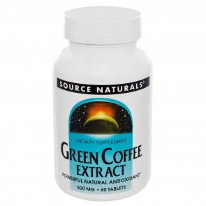 Source Naturals - Green Coffee Extract 500 mg. - 60 Tablets