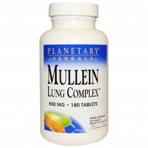 Planetary Herbals Mullein Lung Complex 850 mg 180 Tablets