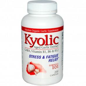 Wakunaga Kyolic Aged Garlic Extract Stress & Fatigue Relief Formula 101, 200 Capsules