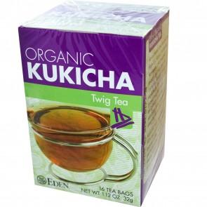 Eden Foods Organic Kukicha Twig Tea 16 Tea Bags