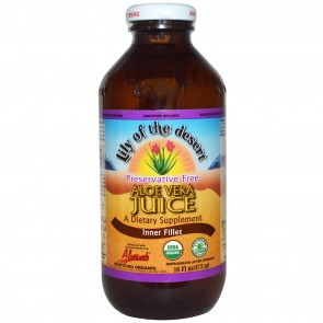 Lily of the Desert, Organic, Aloe Vera Juice, Inner Fillet, Preservative Free, 16 fl oz (473 ml)