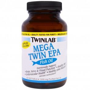 TwinLab Fish Oil, Mega Twin EPA, Softgels - 60 softgels