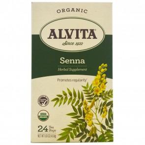 Alvita Teas Organic Senna Tea Caffeine Free 24 Tea Bags 1.61 oz (45.6 g)