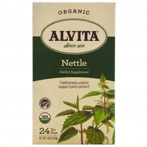 Alvita Teas Organic Nettle Tea Caffeine Free 24 Tea Bags 1.69 oz (48 g)