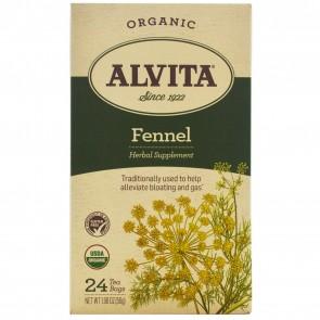 Alvita Organic Fennel Tea Organic - 24 Bags
