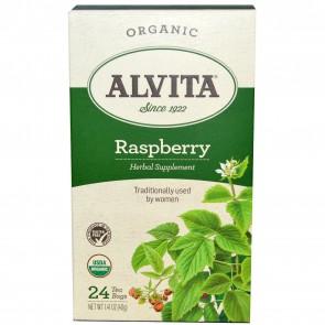 Alvita Teas Organic Raspberry Tea Caffeine Free 24 Tea Bags 1.69 oz (48 g)