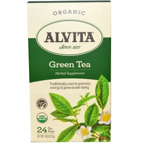 Alvita Teas Green Tea Organic 24 Bags 1.80 oz (51 g)