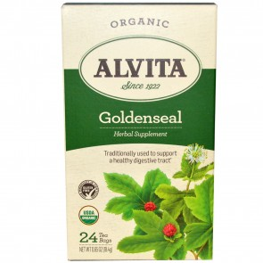 Alvita Goldenseal Organic Tea - 24 bags, 0.65 oz box