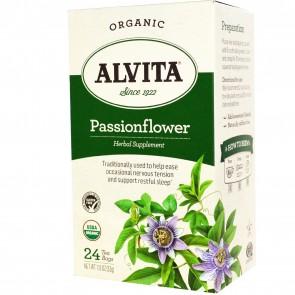 Alvita Teas Organic Passionflower Caffeine Free 24 Tea Bags 1.13oz (32g)