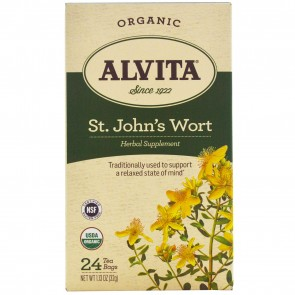 Alvita Organic Herbal Tea St. John's Wort Tea 24 Tea Bags