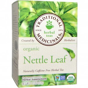 Traditional Medicinals, Organic Nettle Leaf Herbal Tea, Caffeine Free, 16 Wrapped Tea Bags, 1.13 oz (32 g)