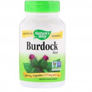 Nature's Way Burdock Root 475 mg 100 Vegetarian Capsules