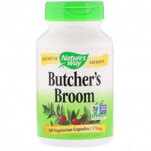 Nature's Way Butcher's Broom 100 Capsules