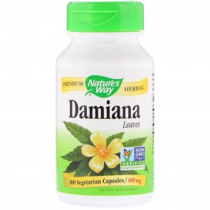 Nature's Way Damiana Leaves 400 mg 100 Capsules