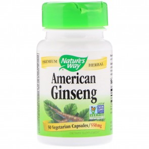 Nature's Way American Ginseng Root 50 Capsules