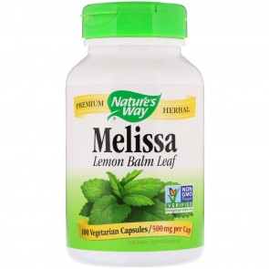 Nature's Way Melissa Leaves 500 mg 100 Capsules