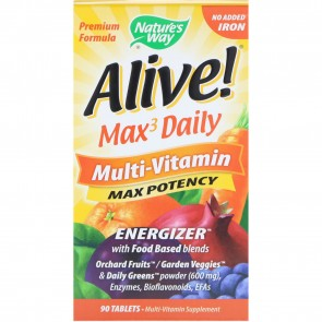 Natures Way Alive Multivitamin Iron Free 90 Count