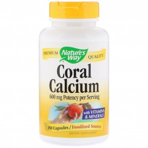 Nature's Way Coral Calcium 180 Vegetarian Capsules