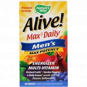 Nature's Way Alive Max 3 Daily Mens Multivitamin 90 Tablets