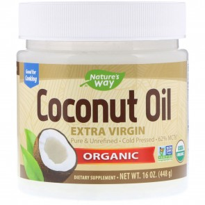 Nature's Way EfaGold Organic Pure Extra Virgin Coconut Oil 16 oz