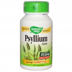 Nature's Way Psyllium Husks 525 mg 100 Vegetarian Capsules