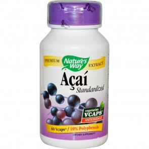 Nature's Way Standardized Acai 60 Vegetarian Capsules