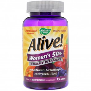 Nature's Way Alive Women's 50+ Gummy Vitamins 75 Gummies