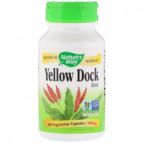 Nature's Way Yellow Dock Root 500 mg 100 Capsules