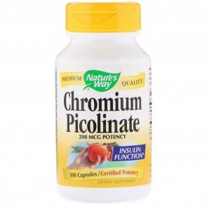 Nature's Way Chromium Picolinate 200 mcg 100 Capsules