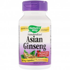 Nature's Way Asian Ginseng Standardized 60 Veggie Caps