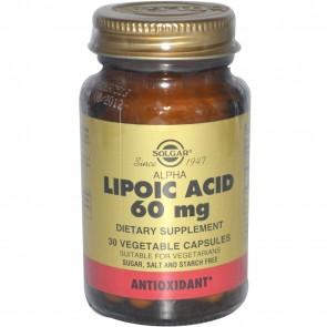 Solgar Kosher Alpha Lipoic Acid 60 mg 60 Vegetable Capsules