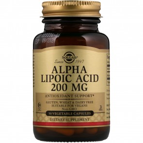 Solgar Alpha Lipoic Acid 200 mg 50 Vegetarian Capsules