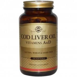 Solgar Norwegian Cod Liver Oil 250 Softgels