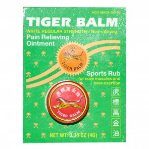 Tiger Balm Pain Relieving Ointment White Regular Strength 0 .14 oz