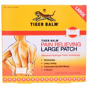 Tiger Balm Pain Relieving Patch Large 4 Patches