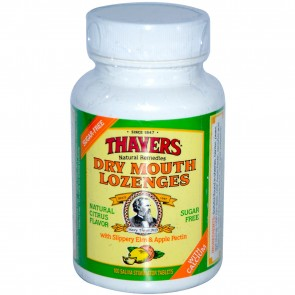 Thayers, Dry Mouth Lozenges, Natural Citrus Flavor, 100 Saliva Stimulator Tablets