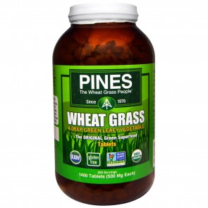 Pines International Organic Pines Wheat Grass 500 mg 1400 Tablets