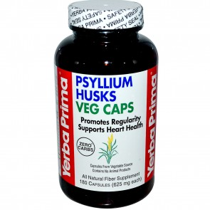 Yerba Prima Psyllium Husks 180 Vegi Capsules