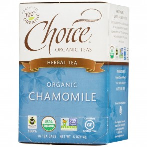 Choice Organic Teas Chamomile 16 Tea Bags