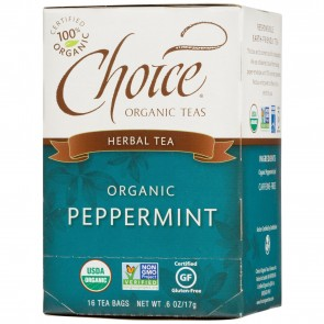 Choice Organic Teas Peppermint 16 Tea Bags