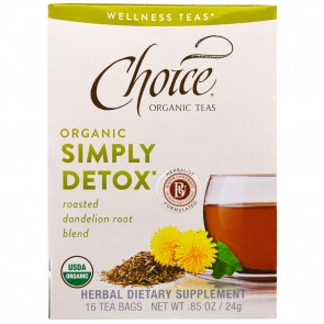 Choice Organic Organic Simply Detox 16 Tea Bags