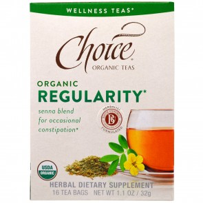Choice Organic Teas Regularity 16 Tea Bags