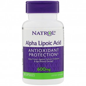 Natrol Alpha Lipoic Acid 600 mg. 30 Capsules