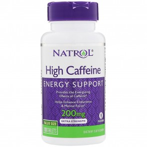 Natrol Natrol High Caffeine 200 mg 100 Tablets