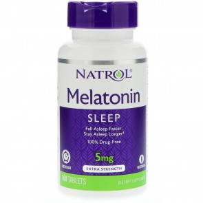 Natrol Melatonin Time Release 5 mg 100 Tablets